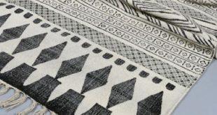 black and white rug AFHDBWZ