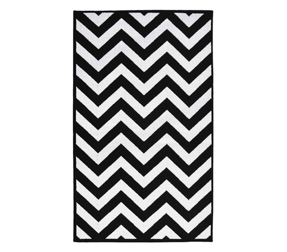 black and white rug black and white dorm decorating - chevron college rug - black and UFJETZA