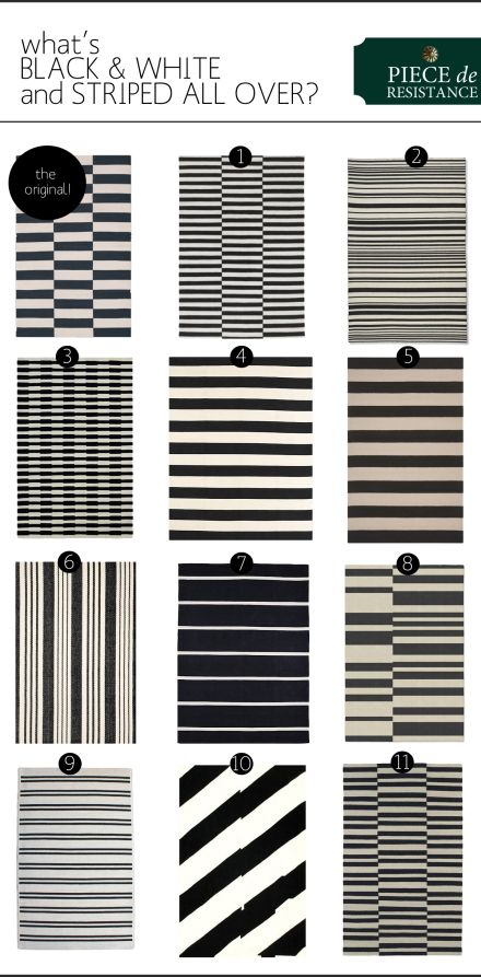 black and white rug black-white-stripe-rugs copy TEGXSLL