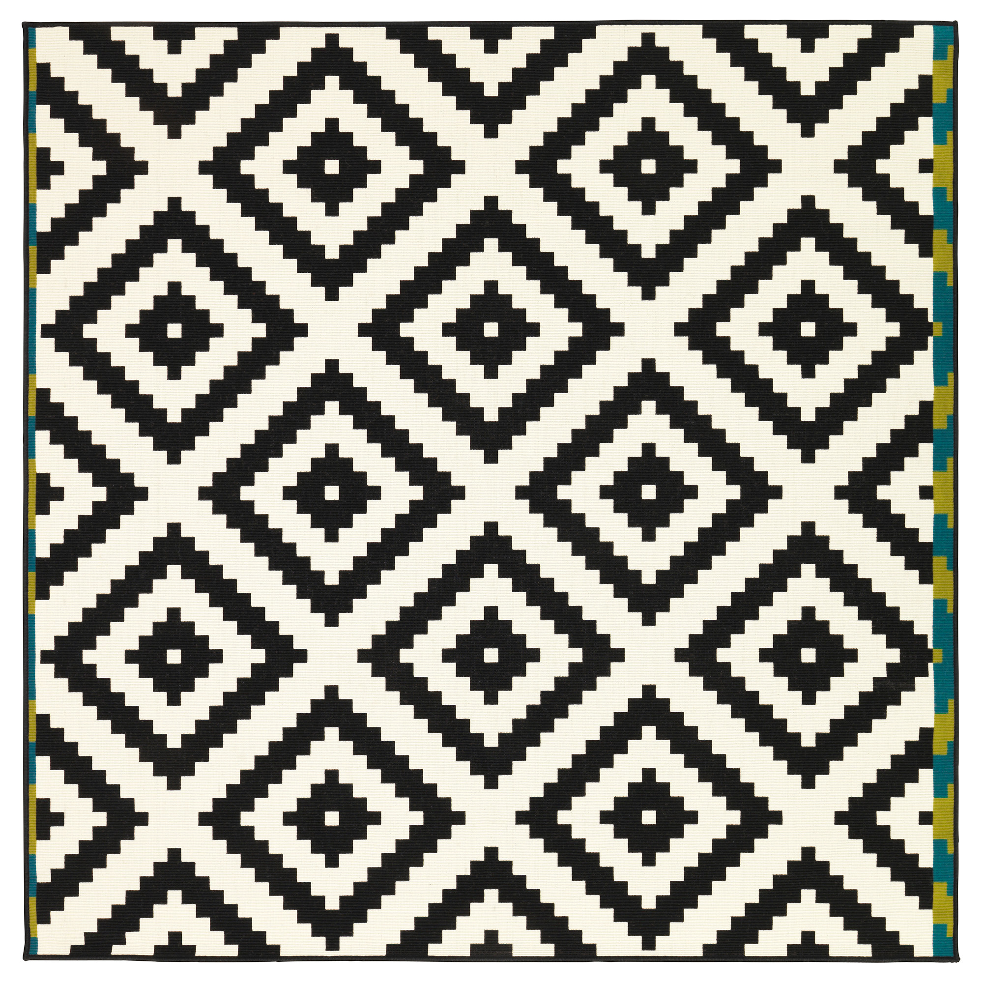 black and white rug lappljung ruta rug, low pile - 6 u0027 7  HRBAFNA