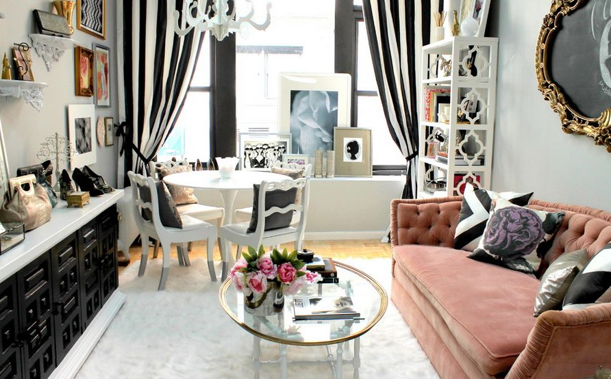 Decorating your room using Black and white striped Curtains