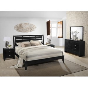 black bedroom sets gloria platform 5 piece bedroom set HCDCIYP