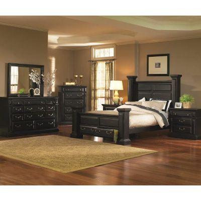 black bedroom sets torreon black 6-piece queen bedroom set BIWVJDP