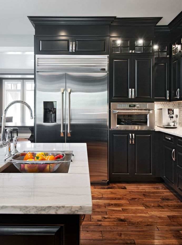 black kitchen cabinets black and white: 45+ sensational kitchens to inspire IAODNCK