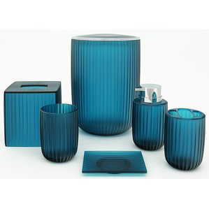 blue bathroom accessories vienne 6-piece bathroom accessory set UMJQYPV