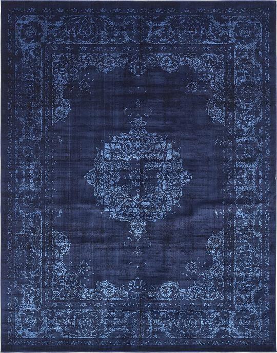 blue rug navy blue 8u0027 x 10u0027 renaissance rug | area rugs | esalerugs SIRCILC