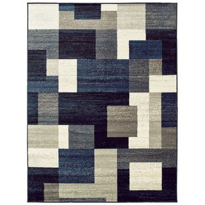 blue rug taira block blue/gray area rug WPFDKUC