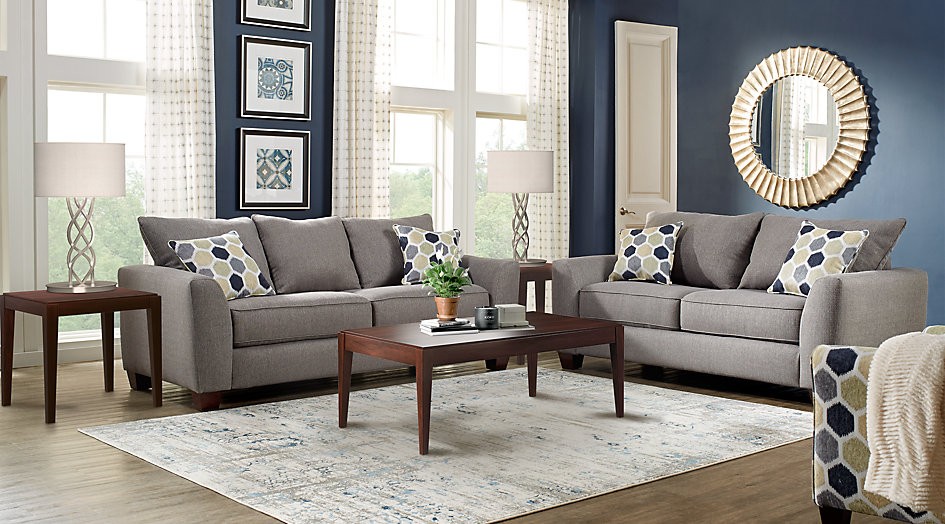 bonita springs gray 5 pc living room - living room sets (gray) YXYKSVR