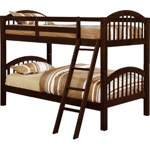 boys beds mireya twin over twin bunk bed VPGLKXW