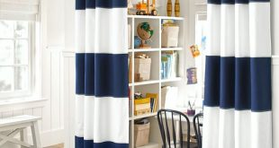 boys curtains rugby blackout panel | pottery barn kids EDFNWLH