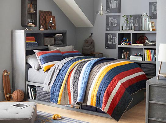 boys rooms ... mvp stripe store-it bedroom ... IKGYDYM