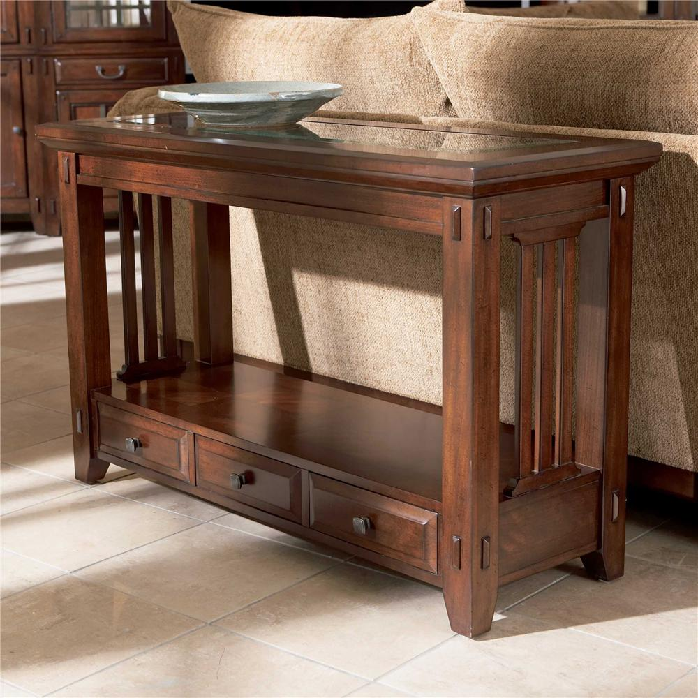broyhill furniture vantana three drawer sofa table - item number: 4985-009 PPKUYOH