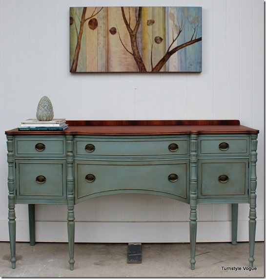 buffet furniture makeover - american paint company - dollar bill -  turnstyle USWTKXF