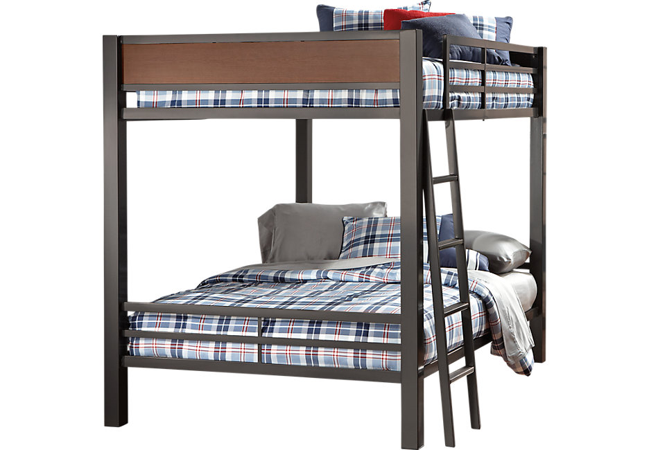 bunk beds louie gray full/full bunk bed IVKVGOR