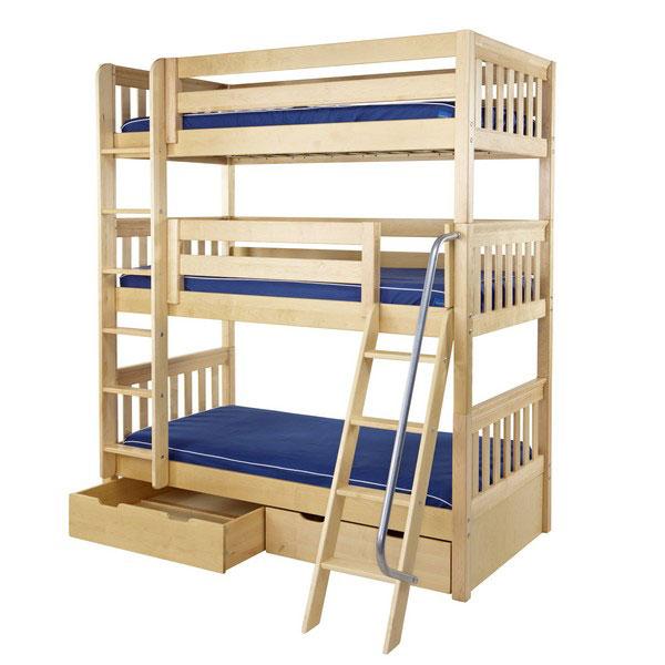 bunk beds stacked triple bunk BWQFBTR