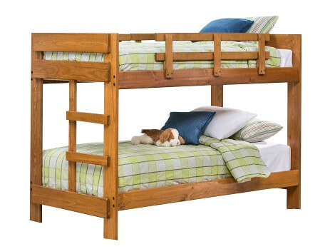 bunk beds ... tanglewood collection - honey tw/tw bunk bed BHFTFES