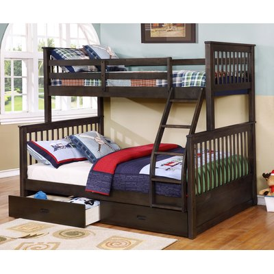 bunk beds wildon home ® walter twin over full bunk bed u0026 reviews | wayfair MBYDCSO