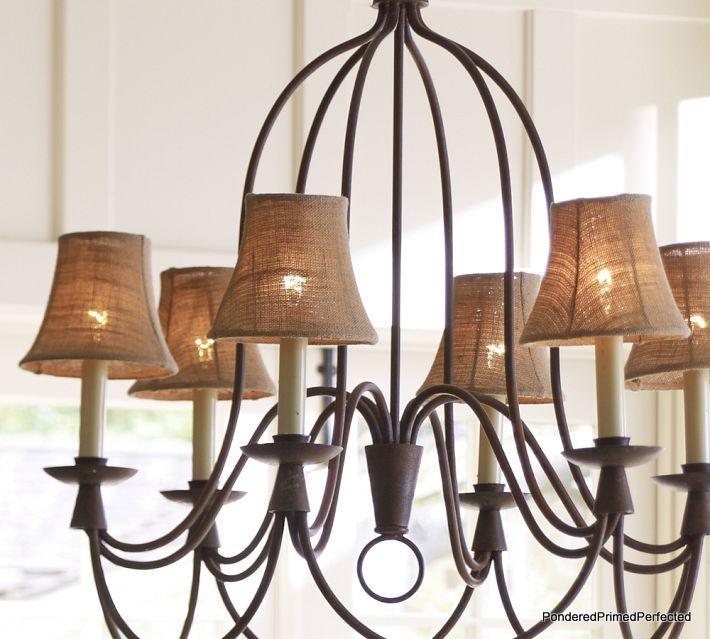 burlap chandelier lamp shades NRWGHFA