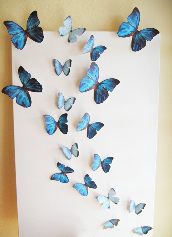 butterfly wall decor 18 butterflies blue something blue butterfly by simplychiclily, $39.00 ·  paper wall TJTKZTG