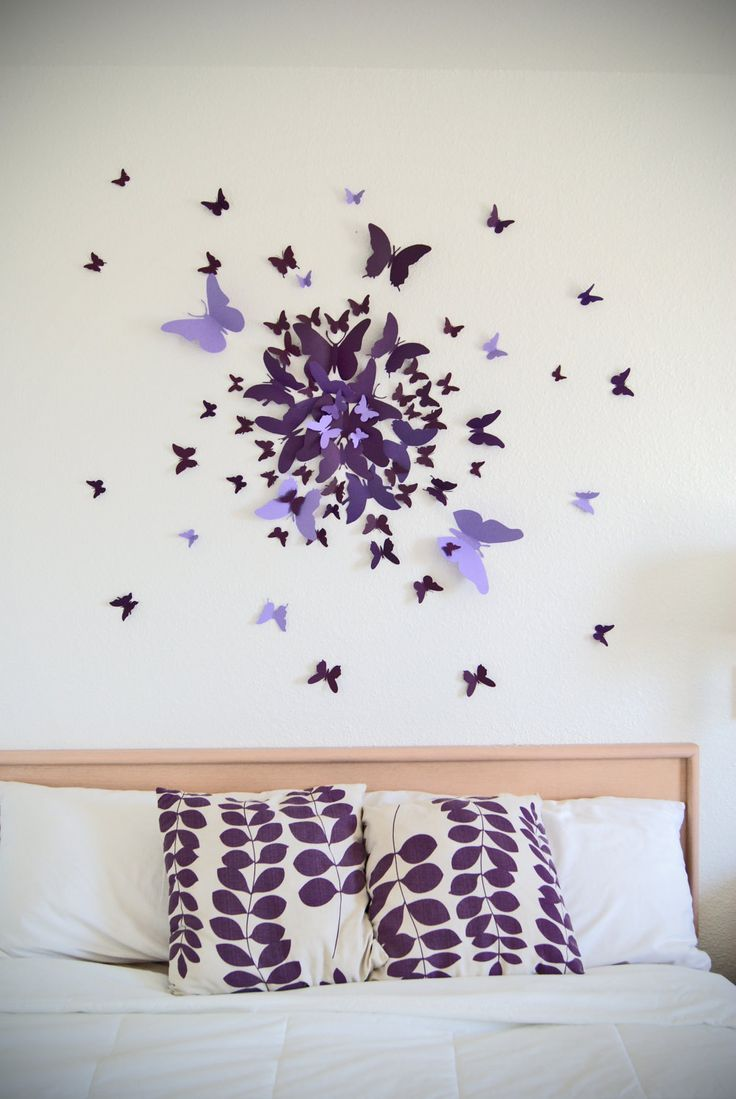 butterfly wall decor free us shipping- 70 3d butterfly wall art circle burst. $50.00, via etsy LVPLCCI