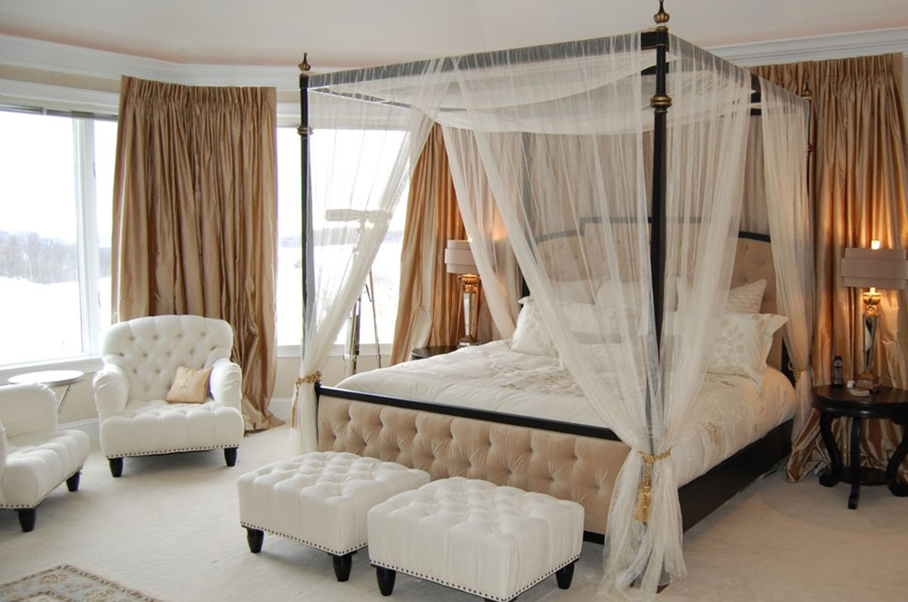 canopy bed curtains curtains-around-bed-between-function-and-design1 curtains around bed DNEVYKU