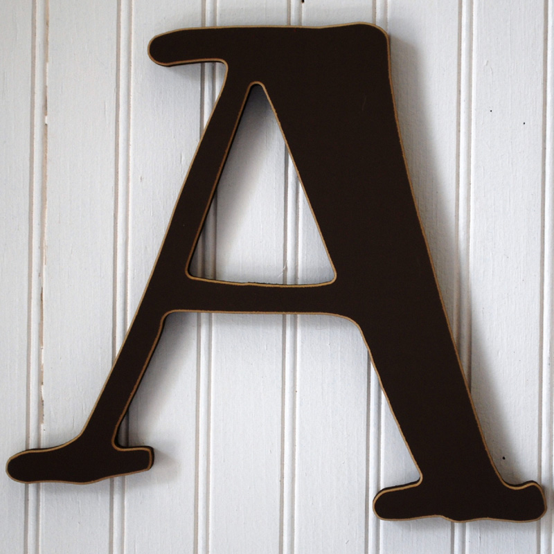 capital wall letters in chocolate brown by new arrivals inc. IRAXFLM