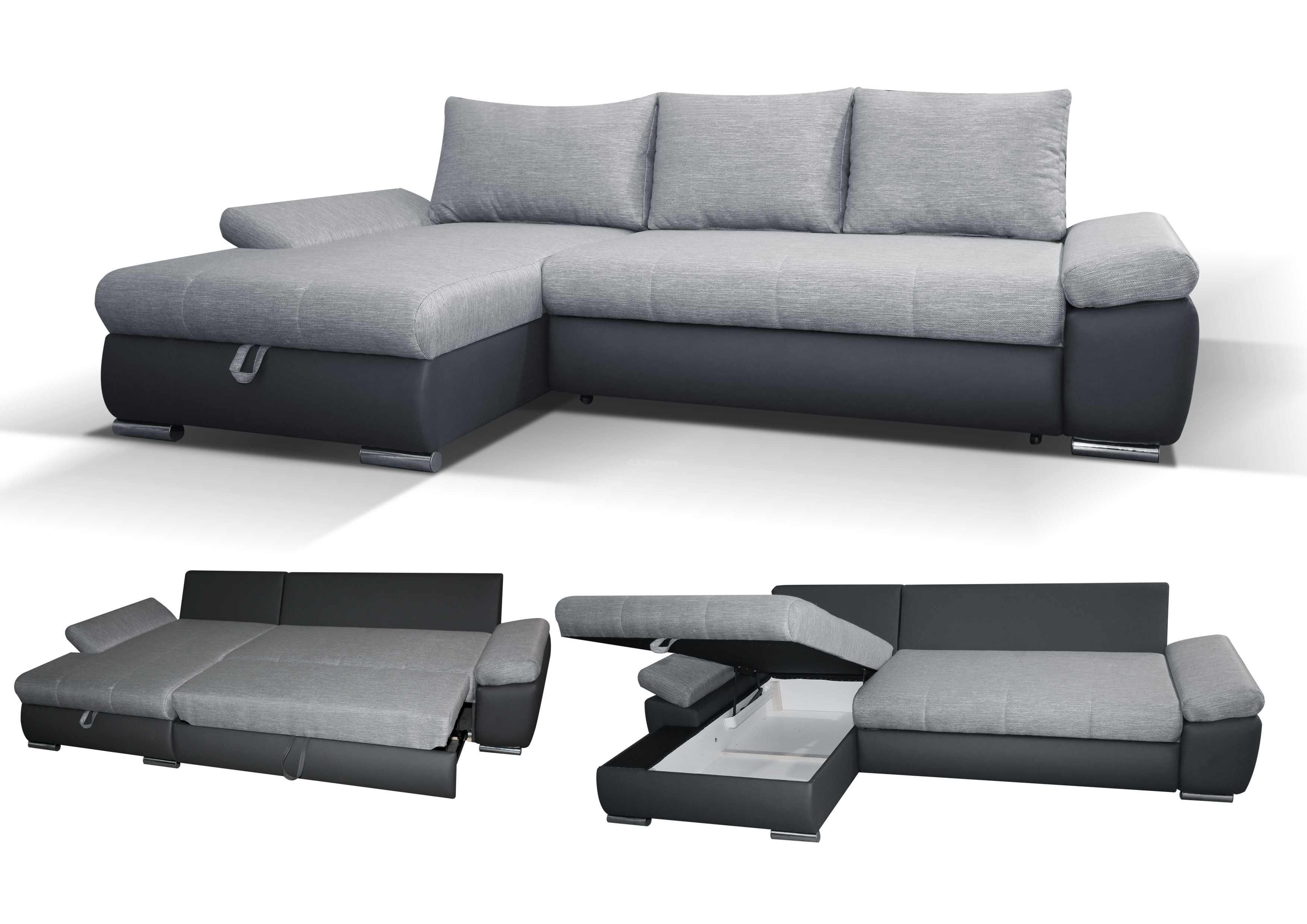 caserto corner sofa bed - left handed AMLUCCP