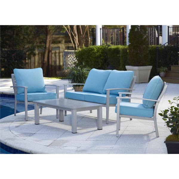 cast aluminum patio furniture | wayfair WWBKPBW