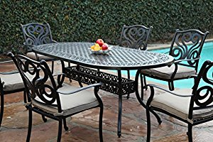 cbm outdoor cast aluminum patio furniture 7 pc dining set g cbm1290 ZRGDJNA