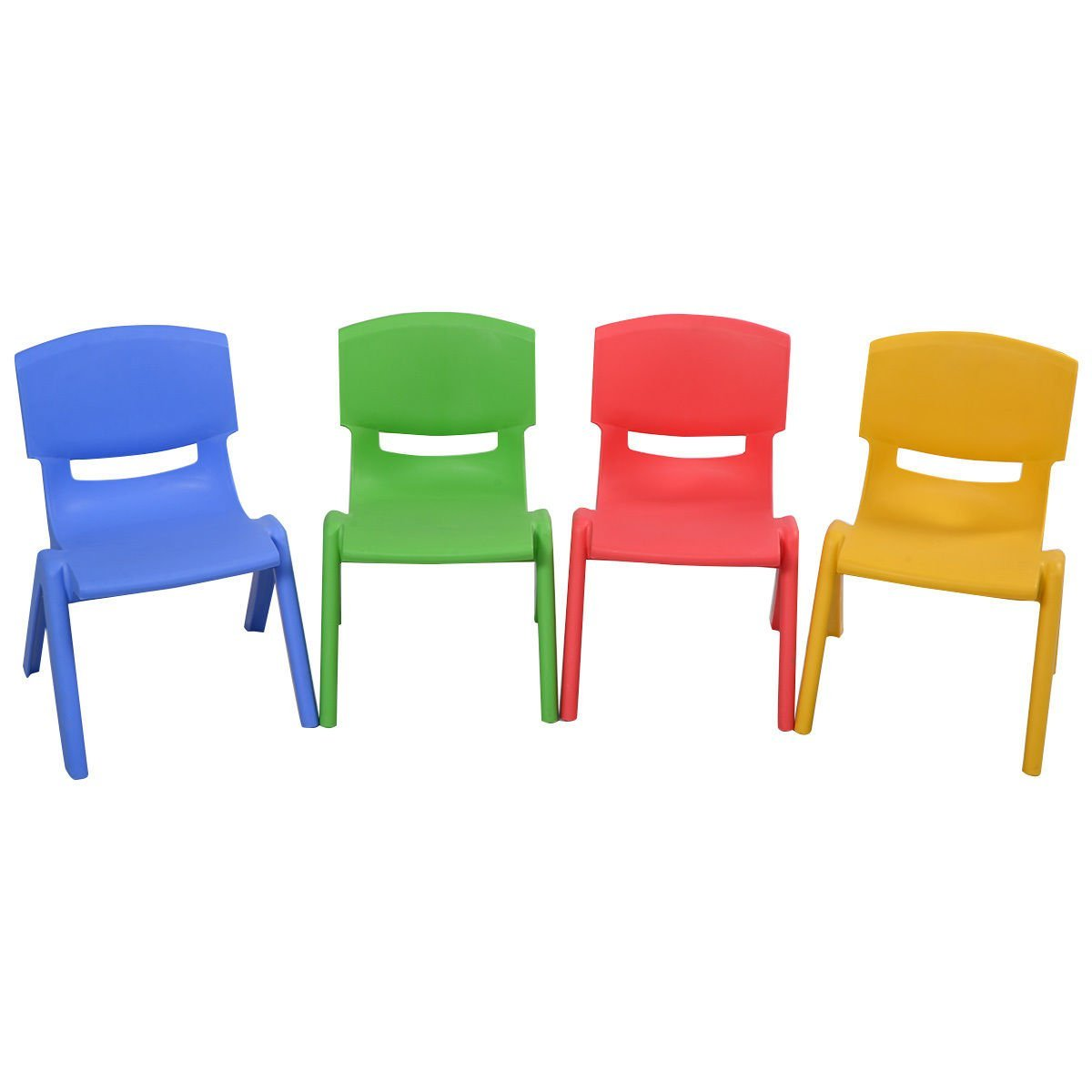 chairs for kids amazon.com: costzon set of 4 kids plastic chairs stackable play and learn YVZXHZS