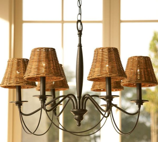 chandelier lamp shades graham wicker chandelier UZBEOLX