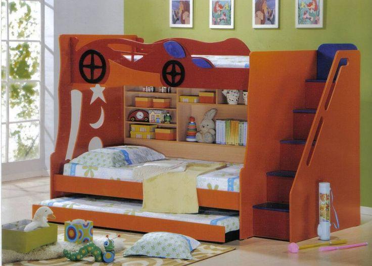 children bedroom furniture kids room. wooden kids bedroom furniture of brown car style loft bed for LLIZVCZ
