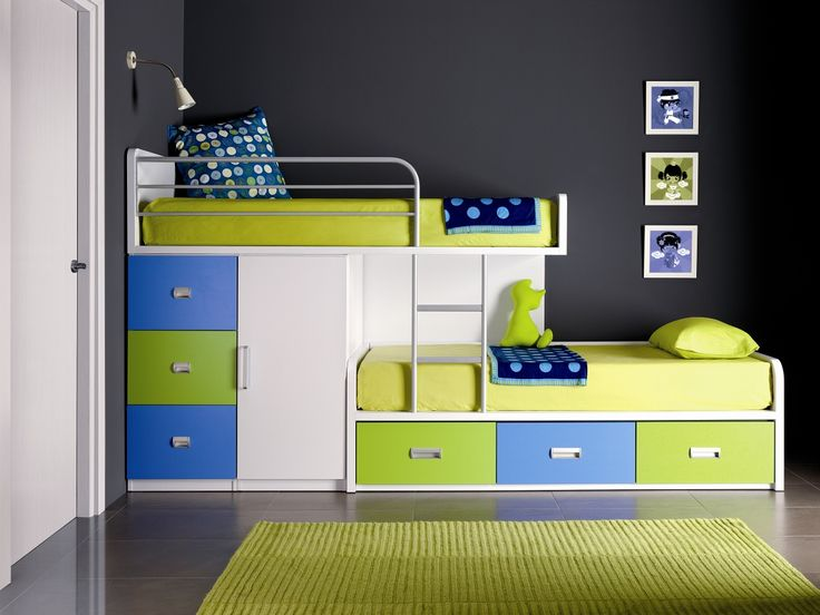 childrens bunk beds 30 space saving beds for small rooms LPHJFRI