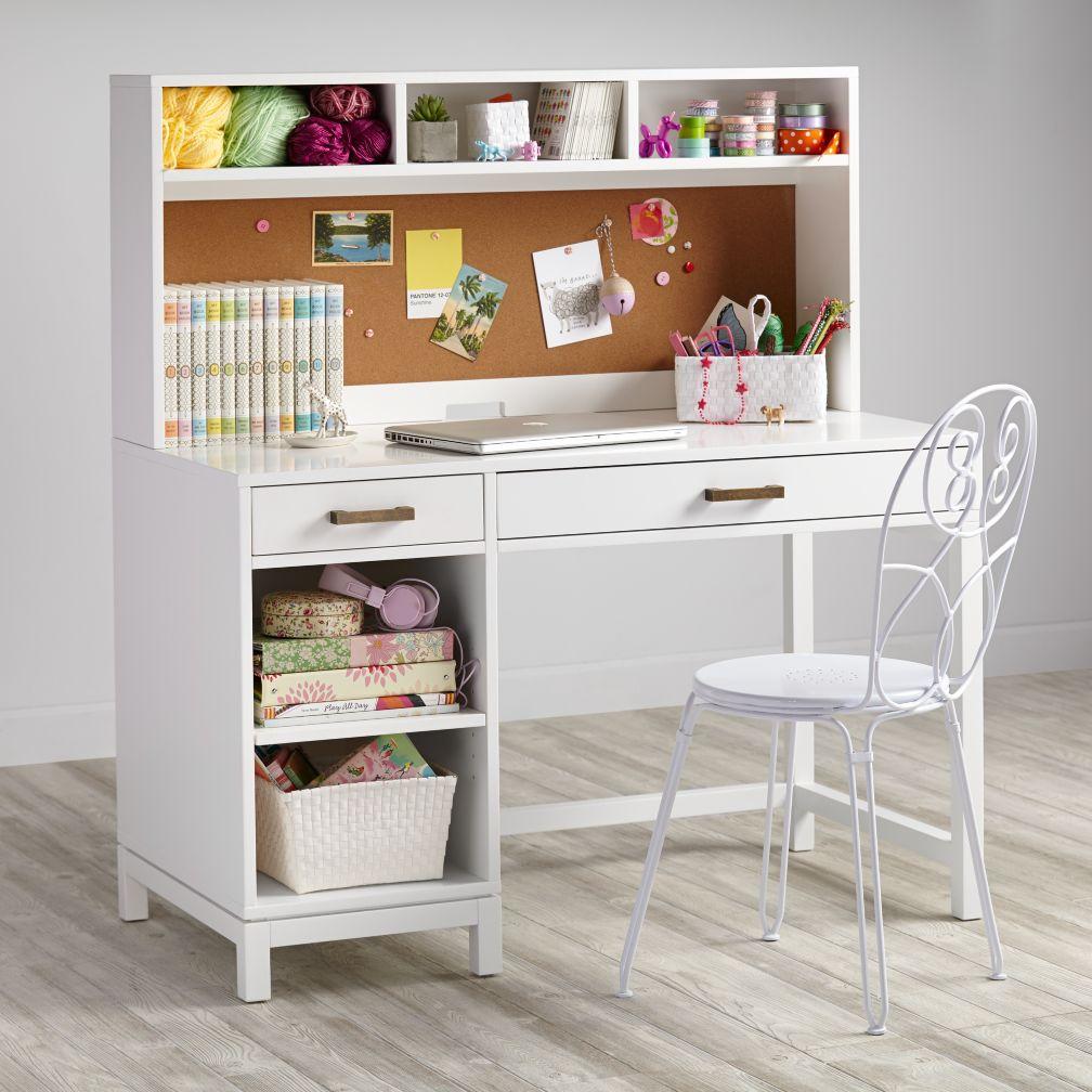 childrens desks cargo desk u0026 hutch (white) PXIJVSB