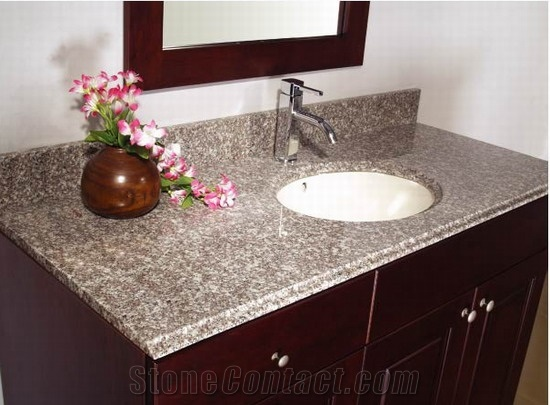 china g623 granite bathroom vanity tops, stone bathroom custom countertops  with GJZFVIA