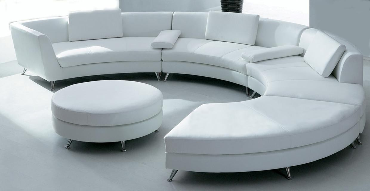 circular sofa white circular leather sofa w/ ottoman LPICSYL