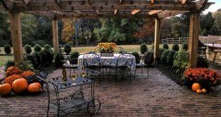 clay brick, brown brick, brick patio, running bond brick patio landscape  aesthetics IJZPZLQ