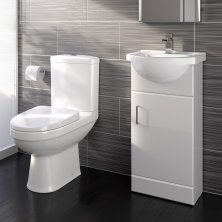cloakroom suites sabrosa ii toilet u0026 410mm quartz basin cabinet cloakroom set - gloss white EIBGWXC