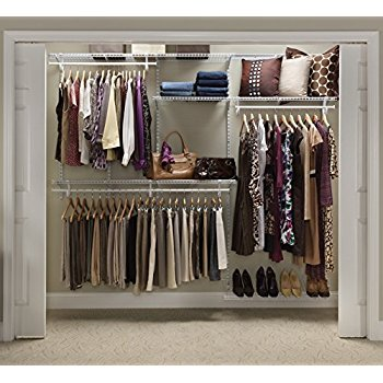 closetmaid 22875 shelftrack 5ft. to 8ft. adjustable closet organizer kit,  white EILMZKU