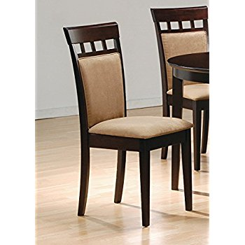 coaster cushion back dining chairs, cappuccino, set of 2 ZCKVDDS