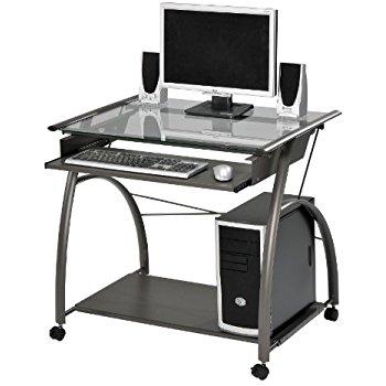 computer furniture acme 00118 vincent computer desk, silver JTQPIMO