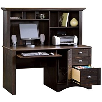 computer furniture harbor view computer desk with hutch - antiqued paint finish ZDGCPZR