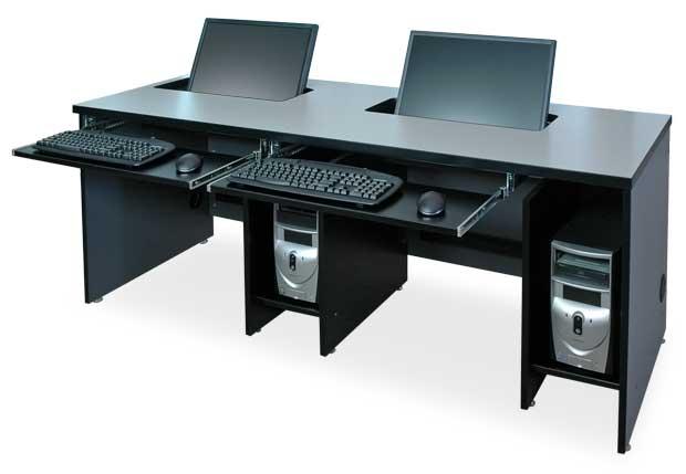computer furniture widescreen 2 user computer desk KUWHEDN