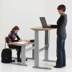 conset 501-27 height adjustable desk with 72 x 30 ... ZEEACZD
