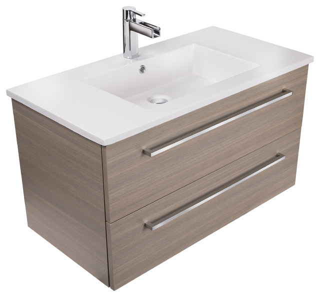 contemporary bathroom vanities silhouette 2-drawer wall-mounted vanity, aria, 36 GPBCPFE