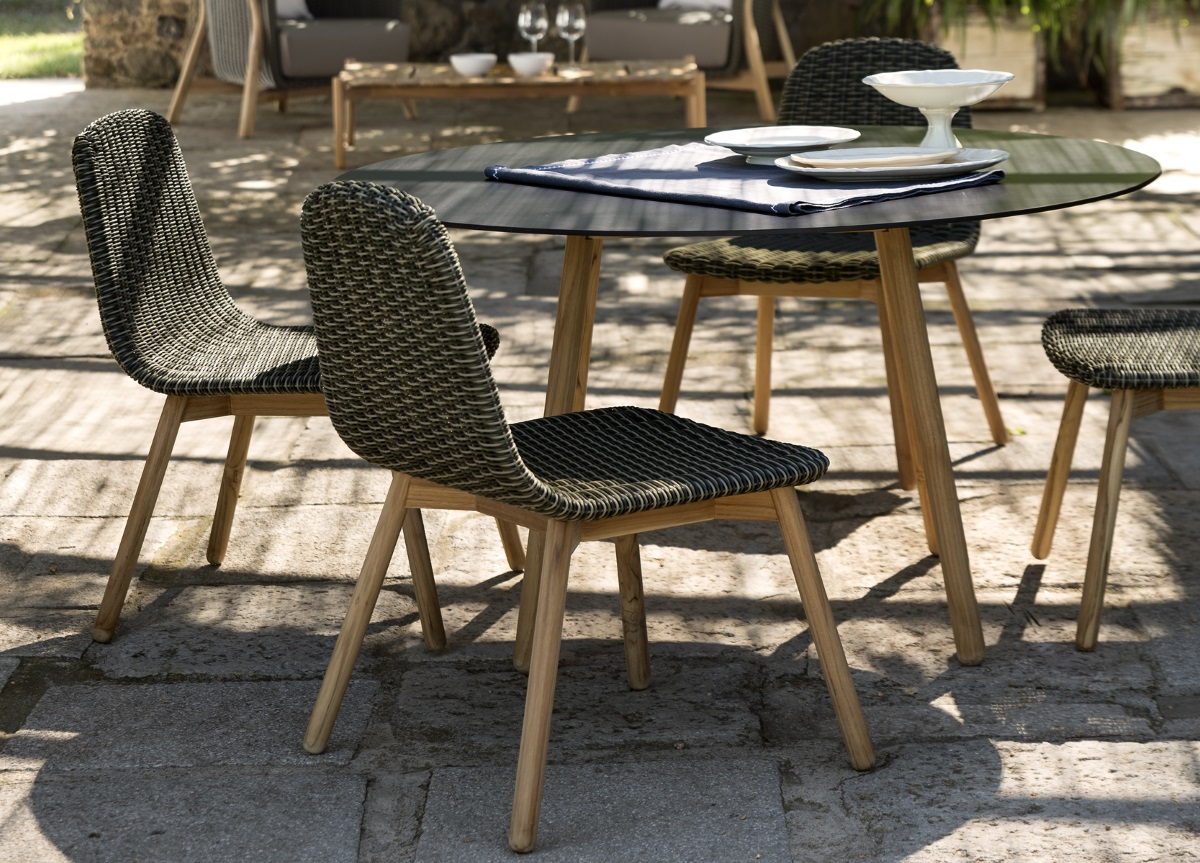 contemporary garden furniture round garden dining chair BWRKEBL