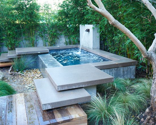 contemporary home design: brilliant above ground plunge pool using water  flow combined HVCYQFE