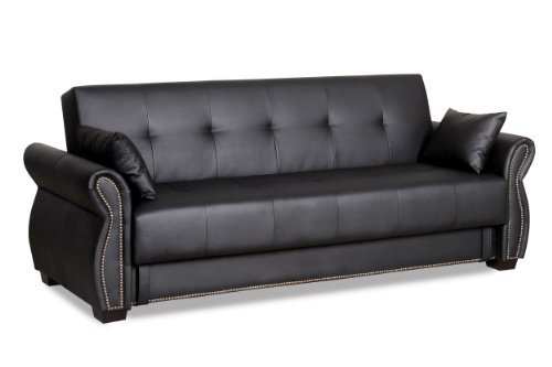 convertible sofa bed serta dream convertibles seville sofa, ebony ATJPPVJ