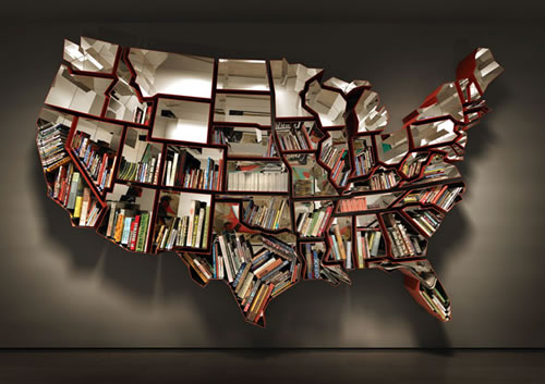 cool bookshelves the united states of america FQZNIGB