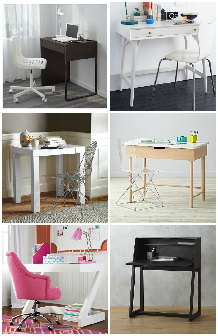 cool modern kidsu0027 desks for small spaces RZSJBBM